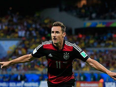 El alemán Klose se consagró como goleador histórico en mundiales