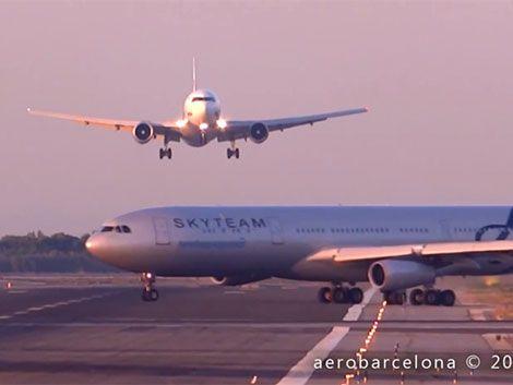 Dos aviones a punto de chocar en el aeropuerto de Barcelona