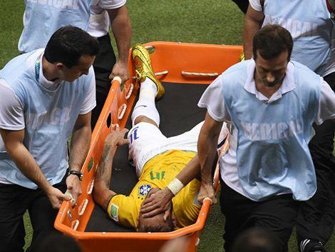 Neymar fuera del Mundial por fractura de una vértebra