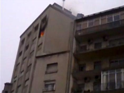 Incendio controlado en Avenida Brasil y Benito Blanco