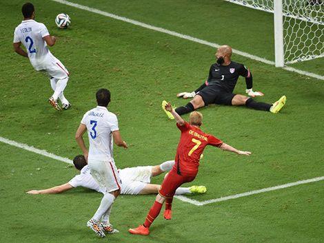 Bélgica ganó 2-1 a EEUU y enfrentará a Argentina en cuartos