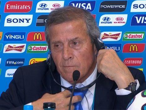 Tabárez se molestó por los ataques de la prensa hacia Suárez