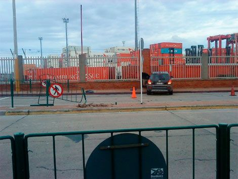 "El ""Japo"" Rodríguez se accidentó en la rambla portuaria"