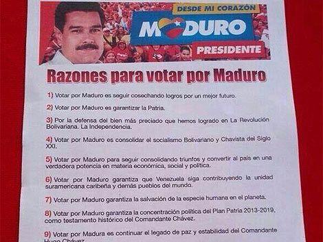 """Votar por Maduro """"garantiza la salvación de la especie humana"""""""