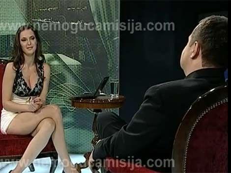 Al primer ministro serbio le hicieron la gran Sharon Stone