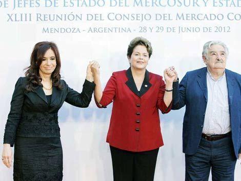 Brasil y Argentina niegan presión sobre Uruguay