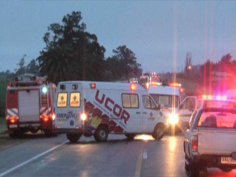Un joven muerto en accidente frontal en Ruta 3
