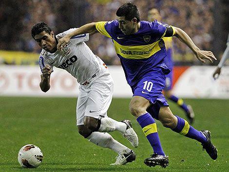 Empate en la primera final de Libertadores: Boca 1- Corinthians 1