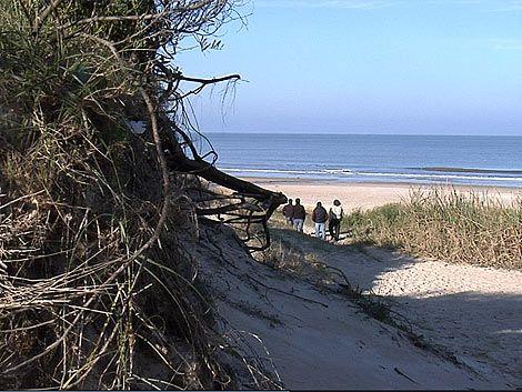 Joven baleada en la cabeza mientras corría en la playa de Solymar