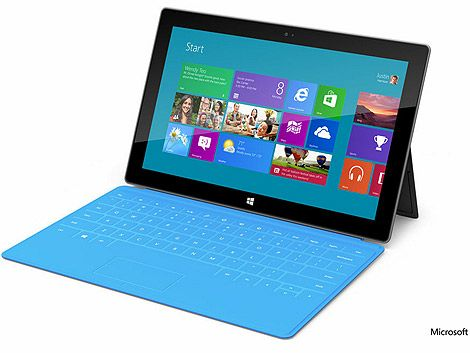 Microsoft presentó Surface su tablet para competir con Apple