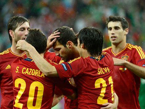 Irlanda se rinde ante el juego sublime y soberbio de España