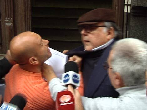 Hijo de Perrini golpeó a general Barneix en el juzgado