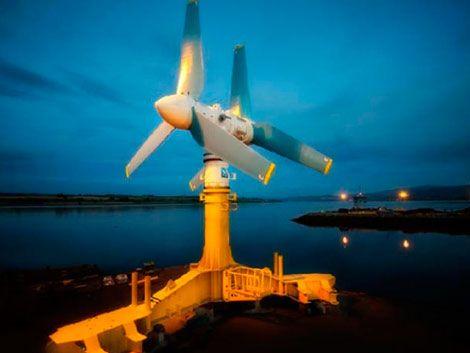 Instalan turbinas que generan energía desde el fondo del mar