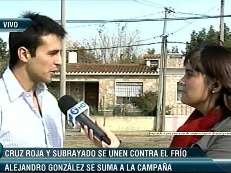 González y Porta se sumaron a la campaña de la frazada