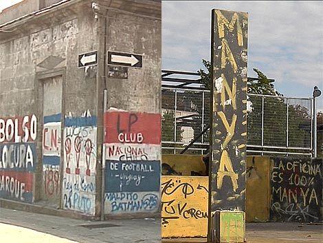 Peñarol y Nacional deberán limpiar los grafitis de sus hinchas
