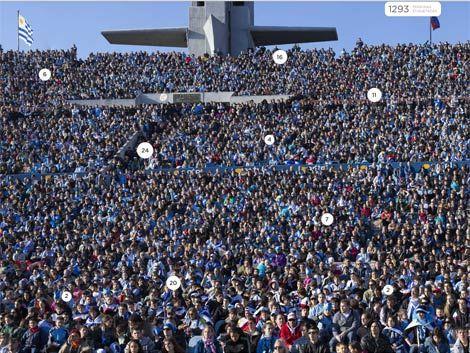 Búsquese en esta foto 360° del partido de Uruguay