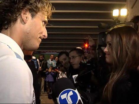 Vitto Saravia entrevistó a Forlán en el Centenario