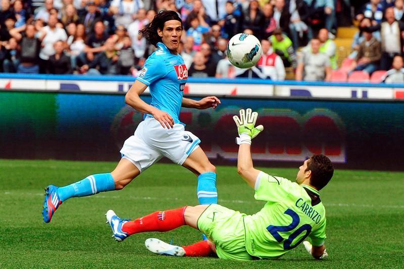 Con un gol de Cavani el Nápoles obtiene la Copa de Italia