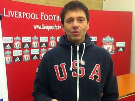 Subrayado en el entrenamiento de Liverpool