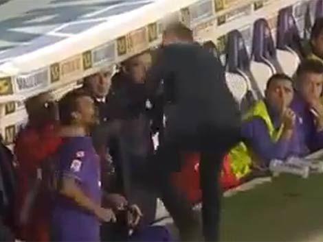 DT del Fiorentina a los sopapos con un jugador
