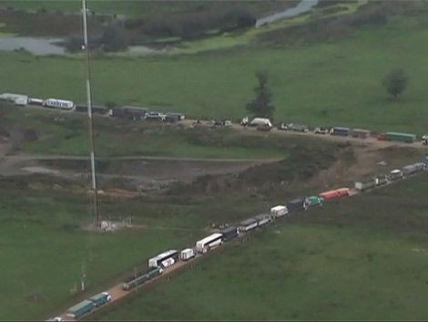 Ruta 8 estará cortada al menos una semana tras choque en puente