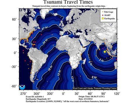 Alerta roja de tsunami en Indonesia tras terremoto de 8.7 grados