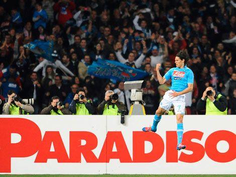 Nápoli a la final de la Copa Italia con gol de Cavani