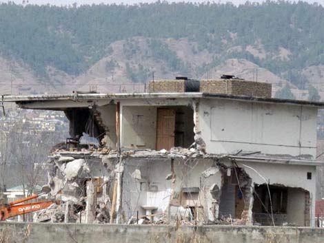 Derribaron la casa donde se escondía Bin Laden