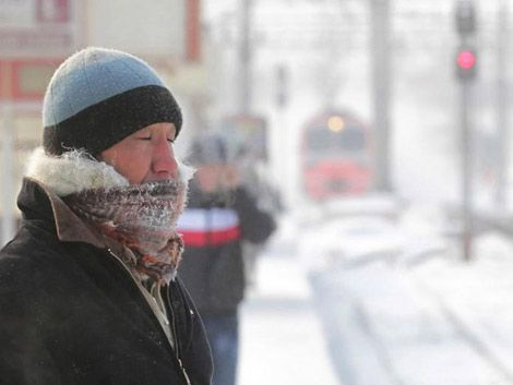 El frío bate récords en Moscú: 36° bajo cero
