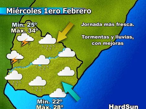 Lluvias llegan mañana a Montevideo; fin de semana con buen clima