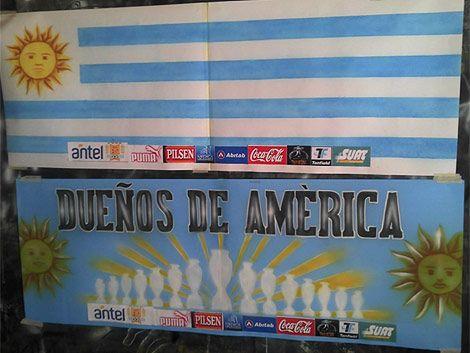 Preparan banderas gigantes para alentar a Uruguay en Eliminatoria
