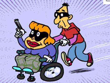 Hombre en silla de ruedas rapiñó a un taxista  y huyó corriendo