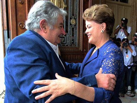 Rousseff recibió a Mujica y dio apoyo por dichos de Sarkozy