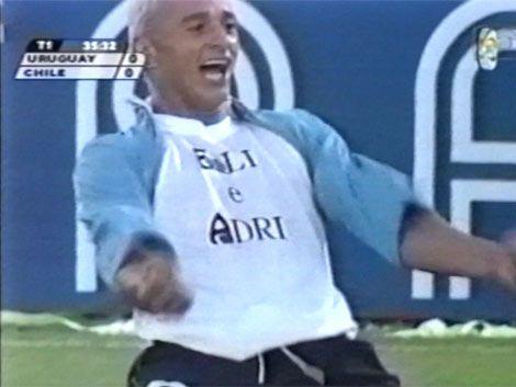 Hace once años Uruguay se impuso a Chile por las Eliminatorias