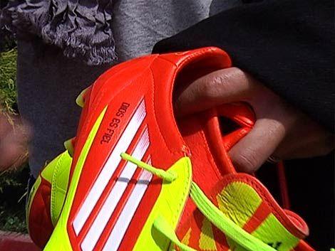 Los zapatos de fútbol inteligentes de Cavani