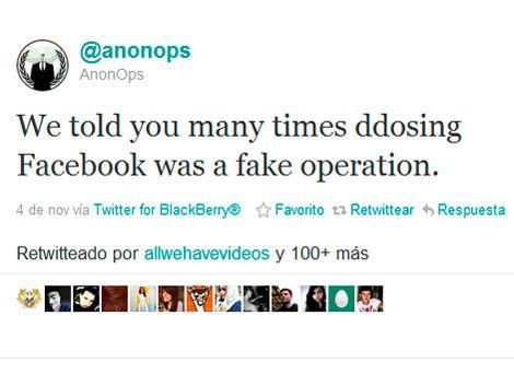 Anonymous desmiente el ataque a Facebook