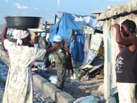 Hay cinco niños haitianos hijos de militares uruguayos