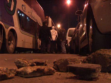 Hinchas de Santos detenidos con piedras y botellas