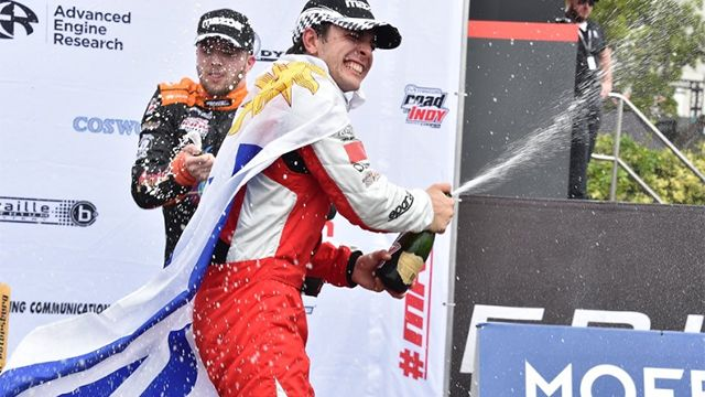 Santiago Urrutia arrancó en punta en la categoría Indy Lights