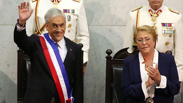 Sebastián Piñera asumió como presidente por segunda vez en Chile