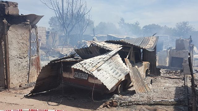 Se incendiaron cerca de 30 viviendas en un asentamiento de Mercedes