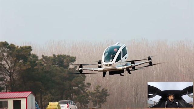 Lanzan el primer drone que transporta personas y puede volar hasta 130 km/h