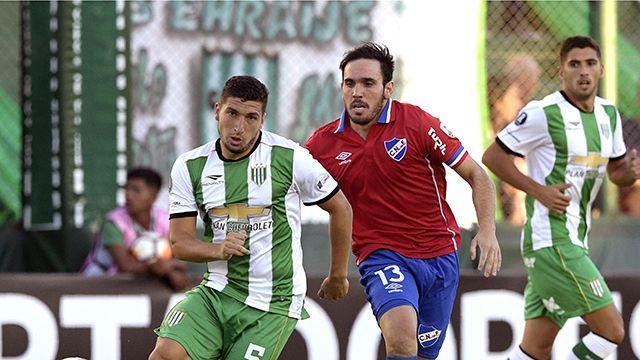 Nacional y Banfield empataron 2 a 2 en Buenos Aires