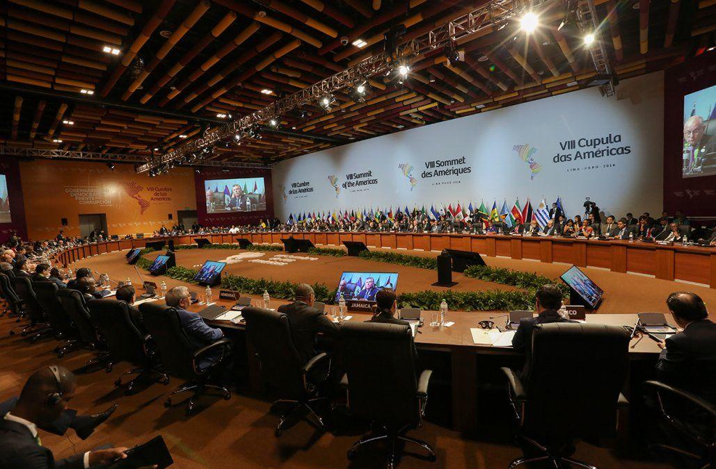 Cumbre de las Américas aprobó en Lima un compromiso contra la corrupción