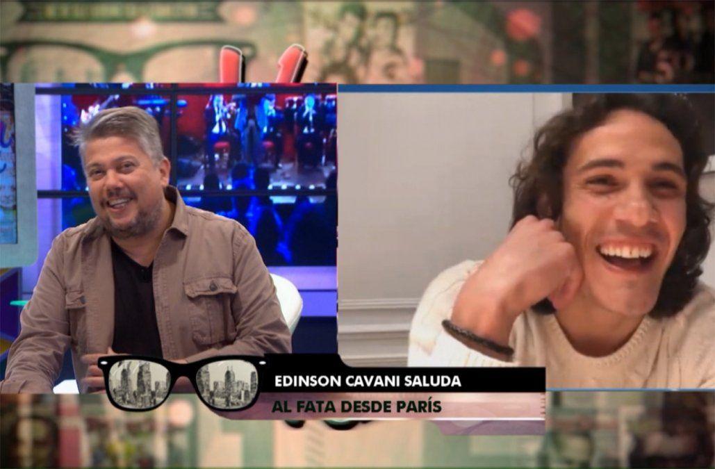 Edinson Cavani sorprendió al Fata Delgado en Vivila Otra Vez