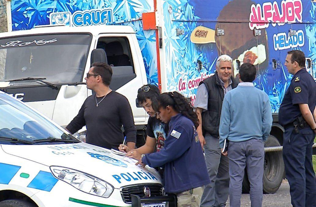 Un policía intervino y desarticuló una rapiña a un camión de reparto