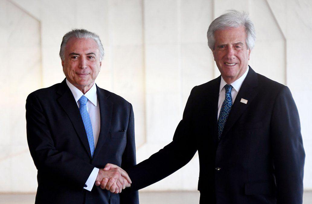 Vázquez se reunió con Temer y hay compromiso para mejorar la seguridad en el Chuy