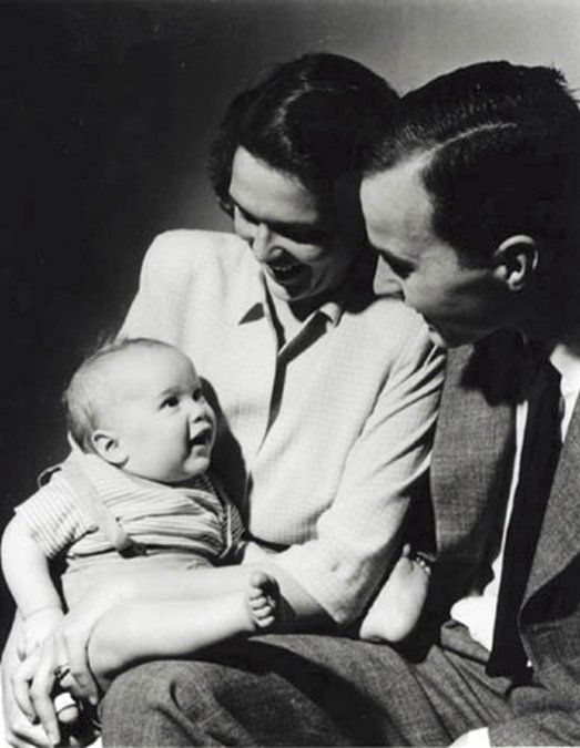 Esta foto tomada en 1947 muestra al futuro presidente de Estados Unidos