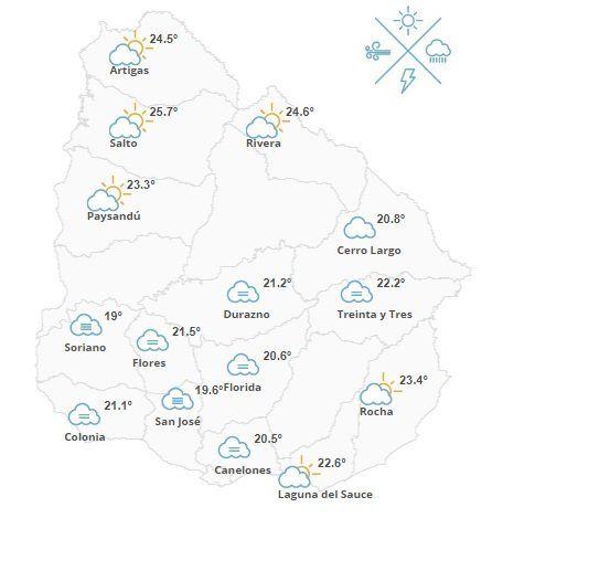 Domingo nuboso con probabilidad de lluvias en todo el país