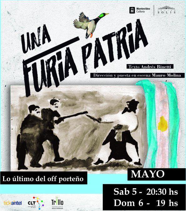 Llega a Uruguay la comedia del teatro off porteño Una furia Patria